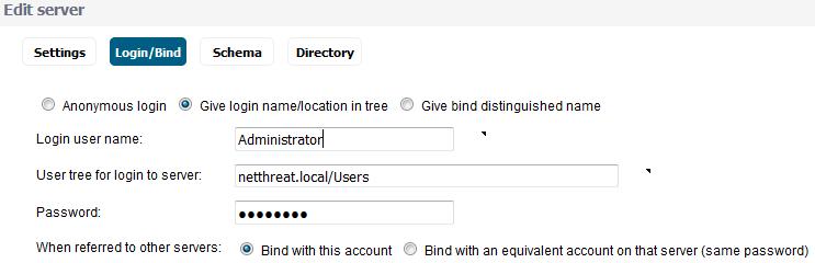 Login/Bind Settings Method 3