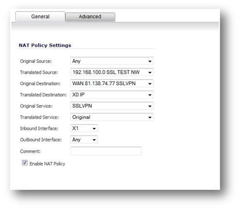 4 Public IP for SSL VPN on SW UTM